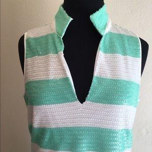 SAIL TO SABLE Sequin Stripe Dress XXS NWT